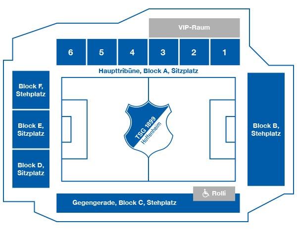 Hoffenheim Stadionplan